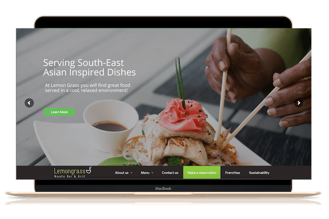Website Design & Development by Luova Labs | Example of a client website - Lemongrass Barbados Restaurant with a responsive website