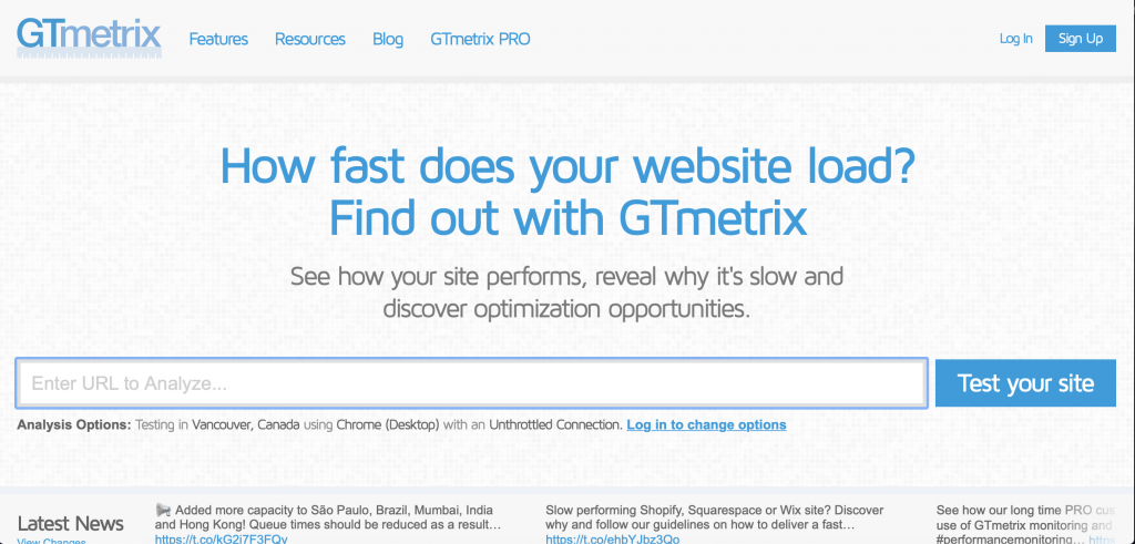 GTMetrix Website Audit